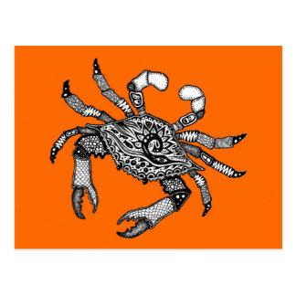 Orange Crab Postcard