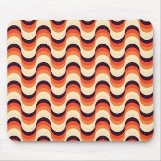 Orange, Cream, Brown Retro Fifties Abstract Art Mouse Pad