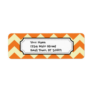 Orange Cream Citrus Chevron ZigZag Stripes Gifts