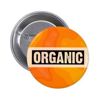Orange Cream - Organic 2 Inch Round Button