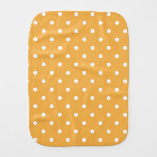 Orange Cream Polka Dots Burp Cloth