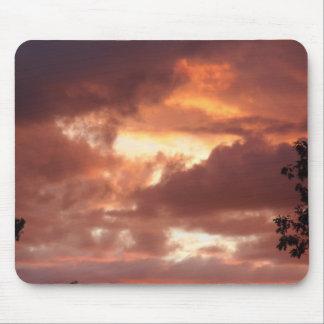 orange cream sky mouse pad