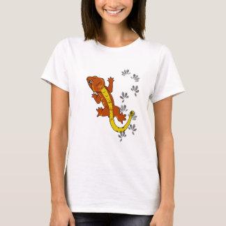Orange crestie footprints (shirt) T-Shirt