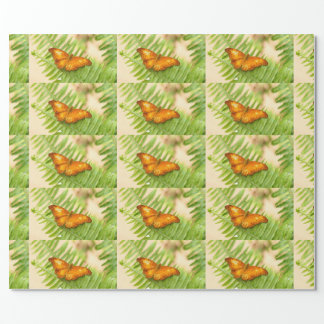 Orange Cruiser butterfly Wrapping Paper