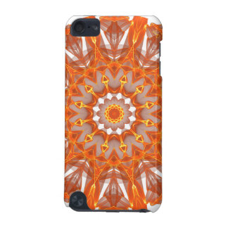 Orange Crystal Wheel Mandala Abstract Flame iPod Touch 5G Covers