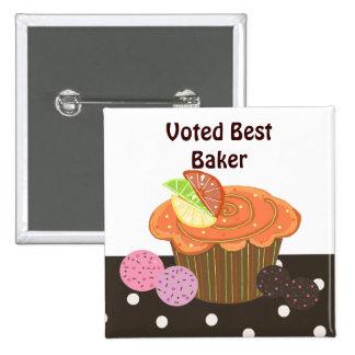 Orange Cupcake Best Baker Button