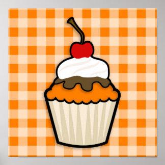Orange Cupcake Poster