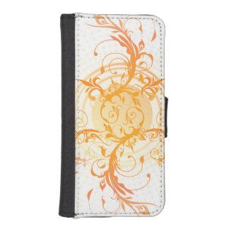 Orange Curlique iPhone SE/5/5s Wallet Case