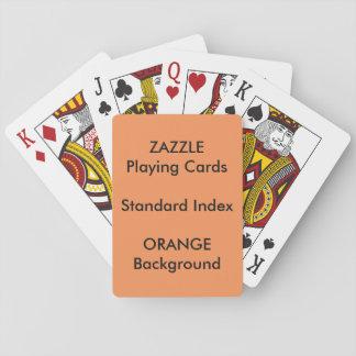 ORANGE Custom STANDARD INDEX Playing Cards