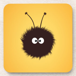 Orange Cute Fluffy Dazzled Bug Coaster