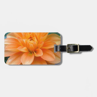 Orange Dahlia Luggage Tag