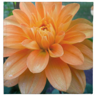 Orange Dahlia Napkin