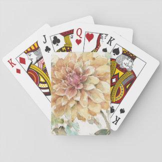 Orange Dahlia Playing Cards