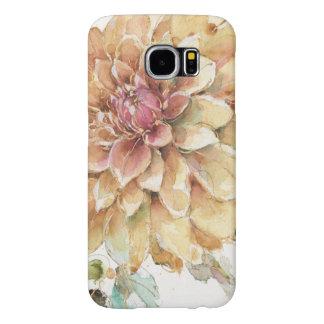 Orange Dahlia Samsung Galaxy S6 Cases