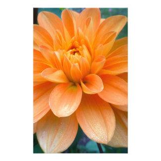 Orange Dahlia Stationery
