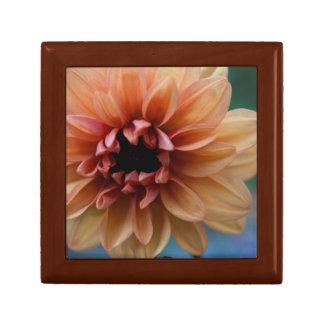 Orange Dahlia Tile Wooden Box