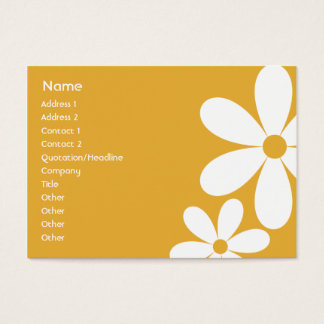 Orange Daisies - Chubby Business Card