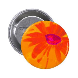 Orange Daisy 2 Inch Round Button