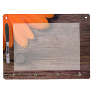 Orange Daisy and Barn Wood Dry Erase Board