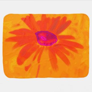 Orange Daisy Baby Blanket