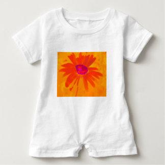 Orange Daisy Baby Romper