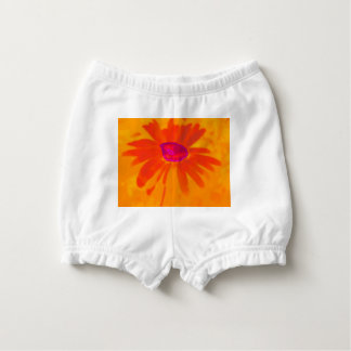 Orange Daisy Diaper Cover