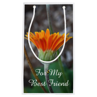 Orange daisy Flower Best Friend Small Gift Bag