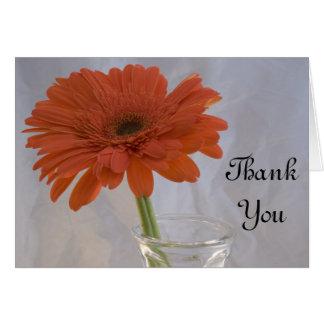 Orange Daisy in Vase Thank You Card