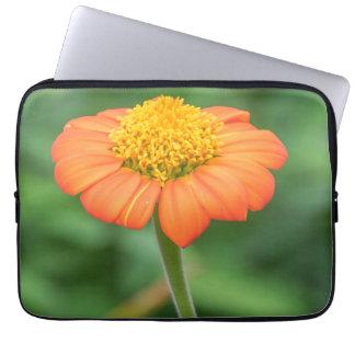 Orange daisy laptop sleeve