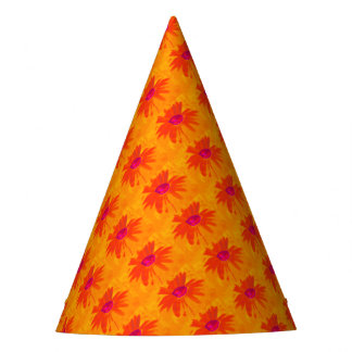 Orange Daisy Party Hat