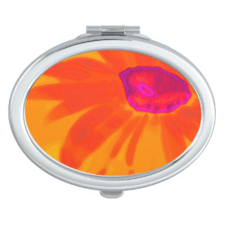 Orange Daisy Travel Mirror