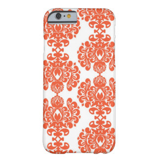 Orange Damask iPhone 6 case
