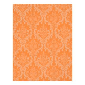 Orange Damask Letterhead