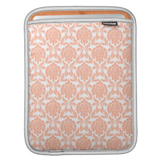 Orange Damask Pattern Sleeve For iPads