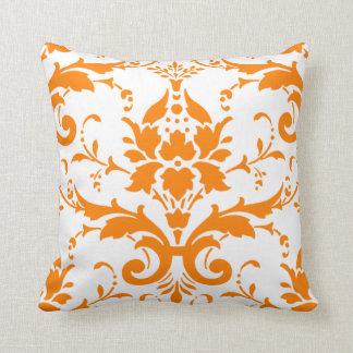 Orange Damask Pillow