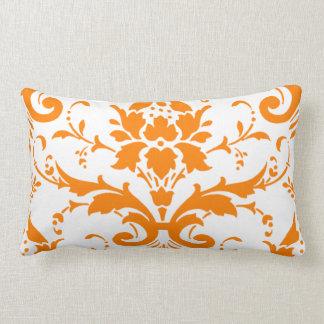 Orange Damask Rectangle Pillow
