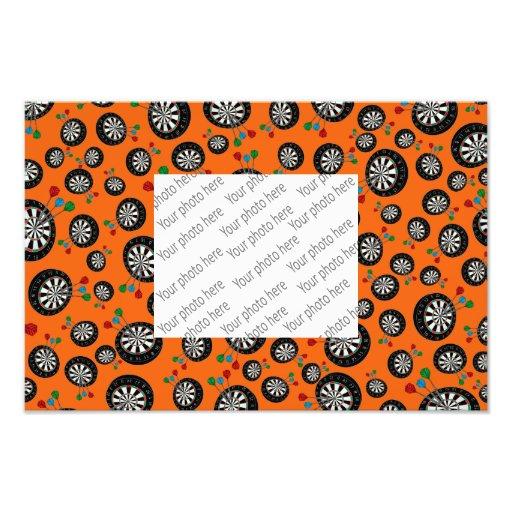 Orange dartboard pattern photo print