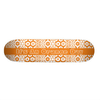 Orange Day Geometric Skate Decks