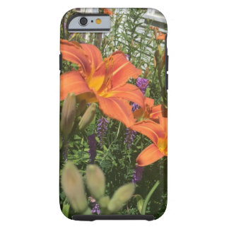 Orange Day Lilies at the Farm - Frost Hill Farms Tough iPhone 6 Case