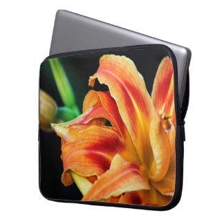 Orange Day Lily Flower Close Up Laptop Computer Sleeve