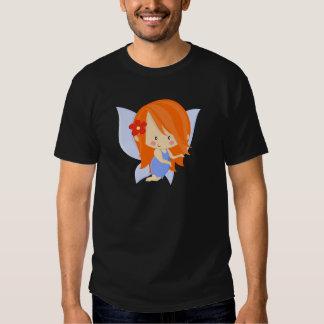Orange de jardin et bleu féeriques t-shirts