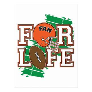 Orange de passioné du football carte postale