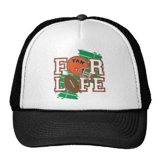 Orange de passioné du football casquettes de camionneur