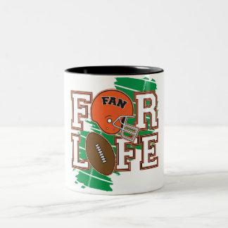 Orange de passioné du football tasse à café