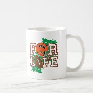 Orange de passioné du football mugs à café