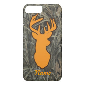 Orange Deer Head Camo iPhone 7 plus case