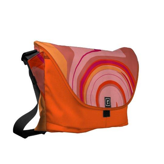 Orange delight messenger bag