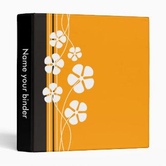 Orange Designer White Flowererd Binders