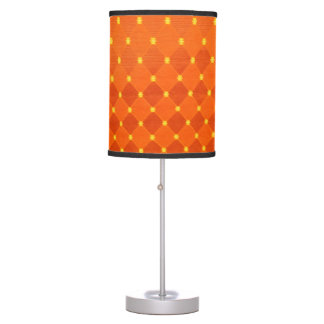 Orange Diamond Dot Table Lamps