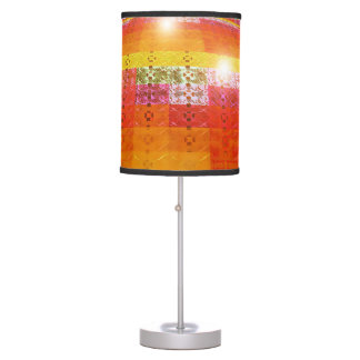 Orange Disco Ball Geometric Design Lamp